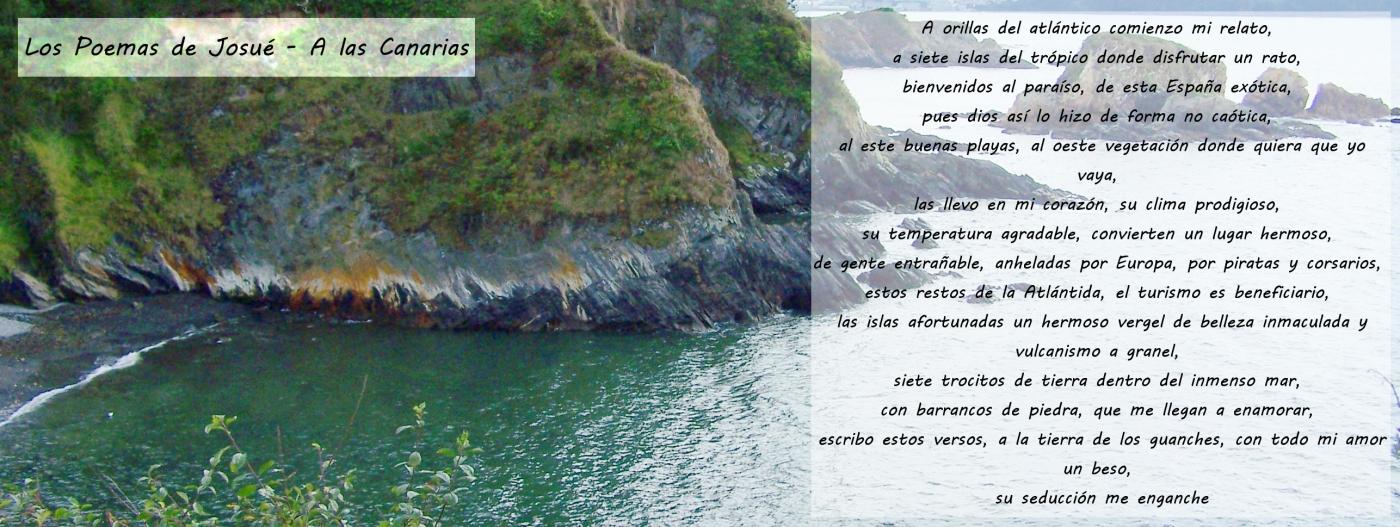Los Poemas De Josué A Las Islas Canarias Y Tú Qué Opinas